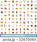 100 100 食料雑貨のイラスト 32670064