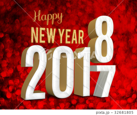 Happy new year 2018 change year from 2017 32681805