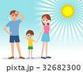 熱中症 家族 ベクターのイラスト 32682300