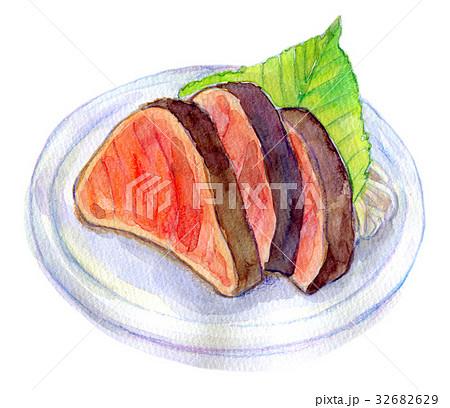 水彩イラスト 食品 かつおたたき 32682629