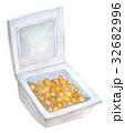 水彩イラスト 食品 納豆 32682996