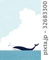 クジラと海の背景 32683300