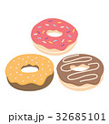 Donut vector set isolated on a light background 32685101