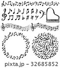 音符 音楽 広告用イラスト 手書き 32685852