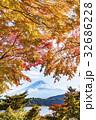 富士山 紅葉 秋の写真 32686228