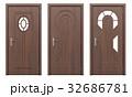 ドア 戸 扉のイラスト 32686781