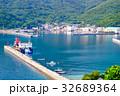 夏の漁村風景 32689364