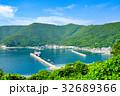 夏の漁村風景 32689366