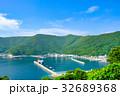 夏の漁村風景 32689368