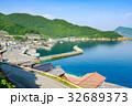 夏の漁村風景 32689373