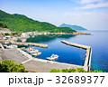 夏の漁村風景 32689377