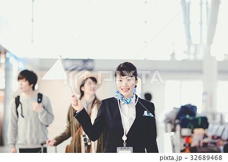 空港 ツアー添乗員の写真素材 [3...