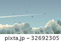 飛行機 くも 雲のイラスト 32692305