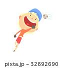 少年 サッカー ベクトルのイラスト 32692690