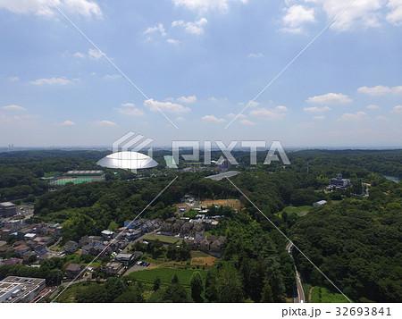 ドローン 空撮 埼玉県 所沢市 メットライフドーム 西武ドーム 高度100m 32693841