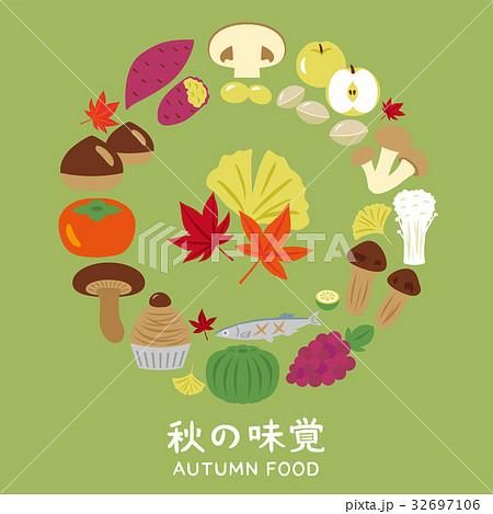 秋の味覚 アイコン 32697106