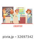 研究室 科学者 ベクタのイラスト 32697342