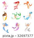 マーメイド マーメード 人魚のイラスト 32697377