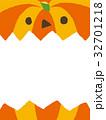 ハロウィン カボチャ コピースペースのイラスト 32701218