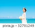 新婦 ウェディング 海の写真 32701249
