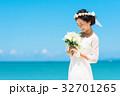新婦 ウェディング 海の写真 32701265