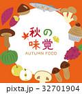 秋の味覚 秋 ベクターのイラスト 32701904