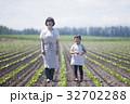 親子 農家 母子の写真 32702288