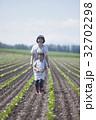 親子 農家 母子の写真 32702298