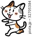 走る猫 32705384