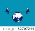 バランス 平衡 均衡のイラスト 32707244