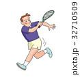 テニス おじさん 人物のイラスト 32710509