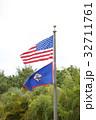 アメリカ国旗とグアム州旗 32711761