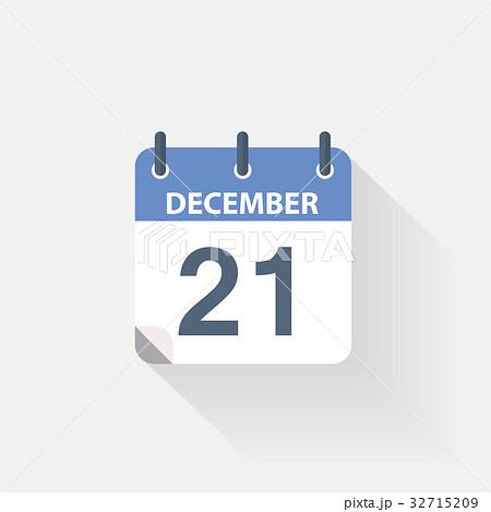 21 december calendar icon 32715209