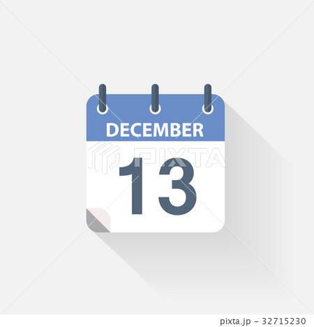 13 december calendar iconのイラスト素材 [32715230] - PIXTA