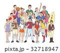スポーツ 人物 ユニフォームのイラスト 32718947