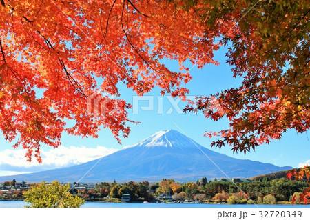 富士山と秋の紅葉 32720349