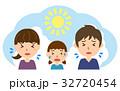 夏 行楽 熱中症のイラスト 32720454