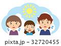夏 熱中症 家族のイラスト 32720455
