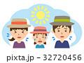 夏 行楽 熱中症のイラスト 32720456