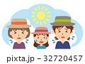 夏 行楽 熱中症のイラスト 32720457
