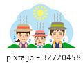 夏 行楽 熱中症のイラスト 32720458