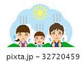 夏 行楽 熱中症のイラスト 32720459