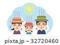 夏 行楽 熱中症のイラスト 32720460