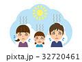 夏 行楽 熱中症のイラスト 32720461