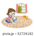掃除 主婦 女性のイラスト 32729182