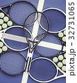 テニス 庭球 ボールのイラスト 32731065