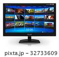 TV テレビ ストリーミングのイラスト 32733609