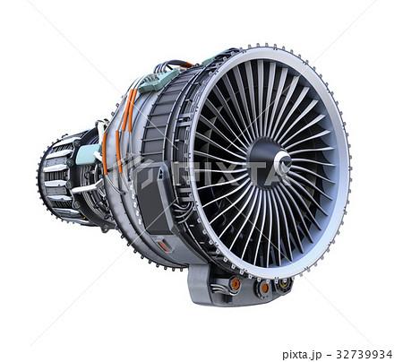 ターボファンエンジンの3Dイメージのイラスト素材 [32739934] - PIXTA