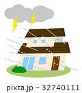 住宅 災害 台風のイラスト 32740111