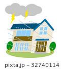 住宅 災害 台風のイラスト 32740114